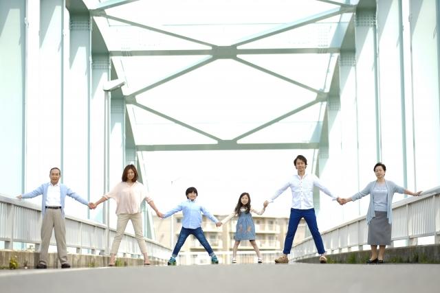 橋の上の三世代